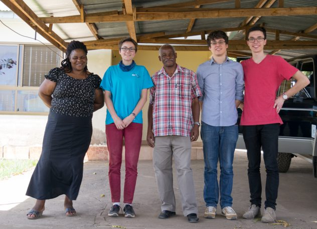 The SoWaDi engineers with family Senkoro