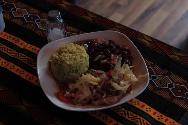 Traditional tanzanian food was served